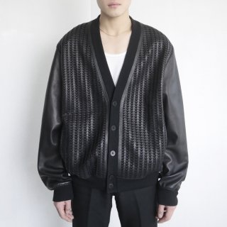 old braided leather 5b jacket