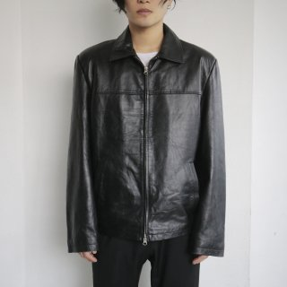 old zipped leather jacket
