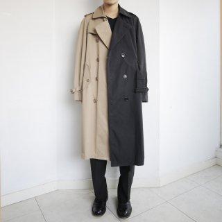 old half&half trench coat