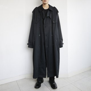 old double gun flap super long trench coat