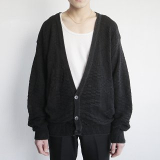 old woven cotton cardigan