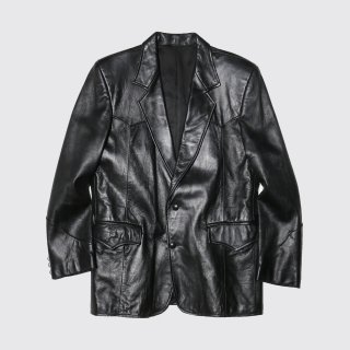 vintage western leather tailored jacket