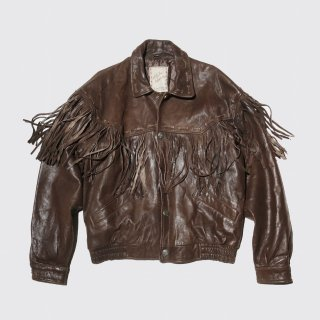 vintage fringe leather jacket