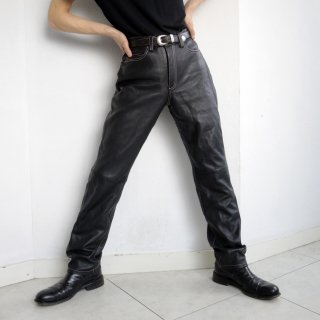 old stitched 5p leather trousers