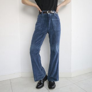 vintage pile flare trousers