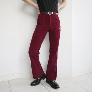 vintage pile flare bush trousers