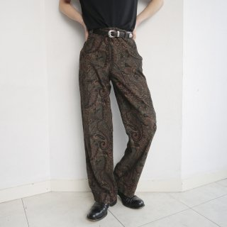 old paisley corduroy trousers