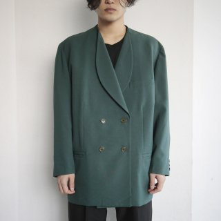 old round collar double breasted tailored jacket