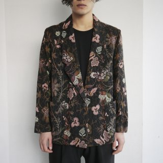 old flower gobelin tailored jacket