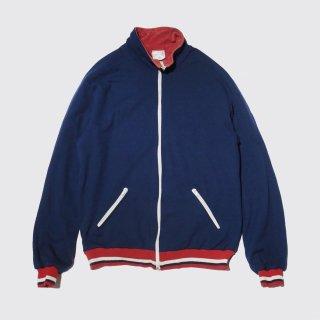 vintage jerjey/pile track jacket