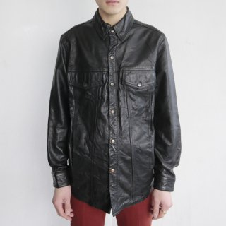 old leather shirt jacket