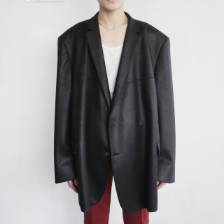 old oversized leather tailored jacket