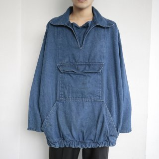 old loose denim pullover