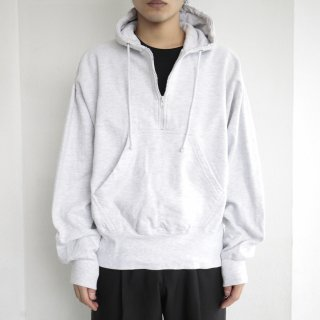 old half zipped heavy weight hoodie