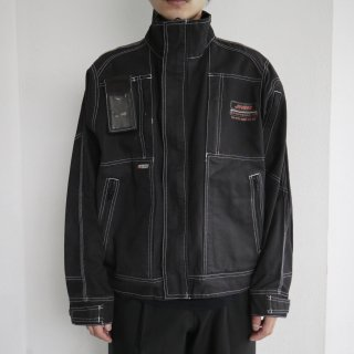 old techno work jacket