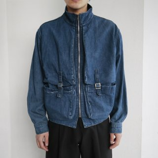 old marithé françois girbaud complements zipped denim jacket