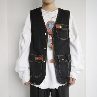 old 4p denim vest