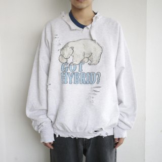 boro custom sweat , polar bear