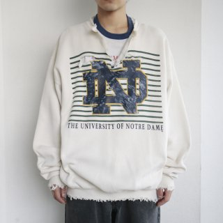 boro custom sweat , north dame university
