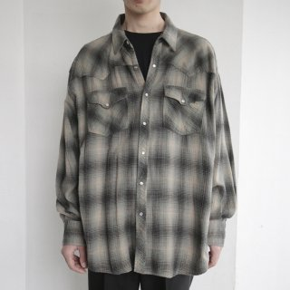 old ombre check western shirt