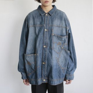 old roca wear random pocket buggy trucker jacket