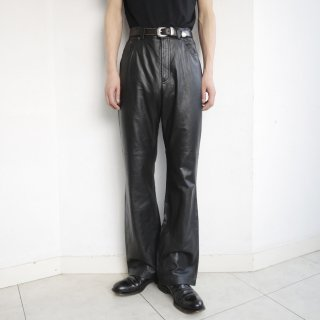 old ralph lauren 5p flare leather trousers