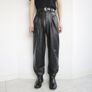 old high rise tapered leather trousers
