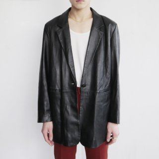 old 1b leather tailored jacket