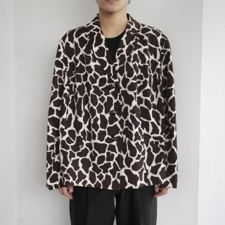 old animal pattern tailored jacket