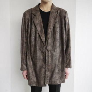 old faux python tailored jacket
