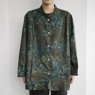 old flower jacquard jacket