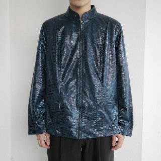 old faux python zipped jacket
