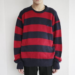 old polo ralph lauren loose border cotton sweater