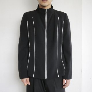 old piping zipped jacket