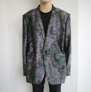 old iridescent flower tailored jacket