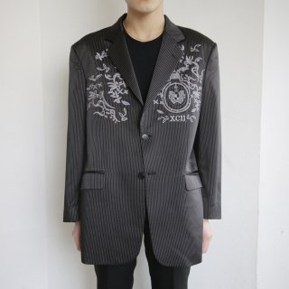 old broderie stripe tailored jacket