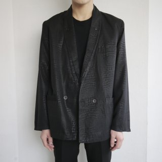 old python double breasted jacket