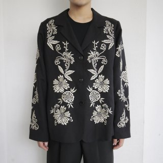 old broderie linen tailored jacket