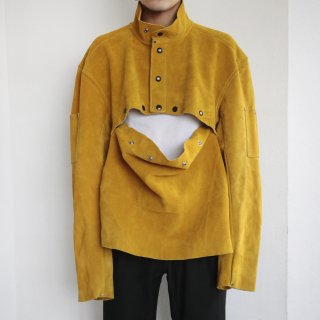 old detachable suede jacket