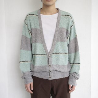 old ARMANI pilling border cardigan