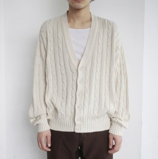 old benetton cable cardigan
