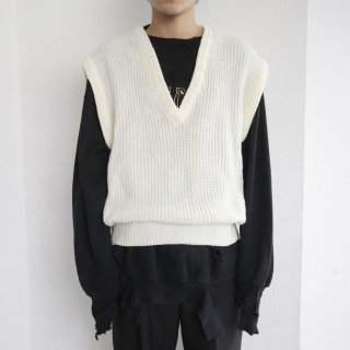 old deep v knit vest