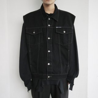 old buggy denim vest