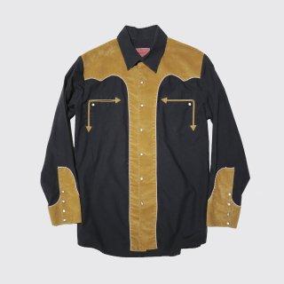 vintage faux suede combi western shirt