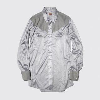vintage miller faux suede combi western shirt