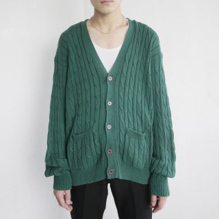 old cable cardigan