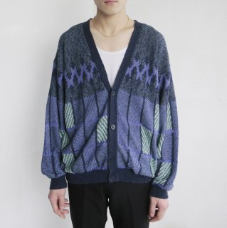 old crazy pattern cardigan