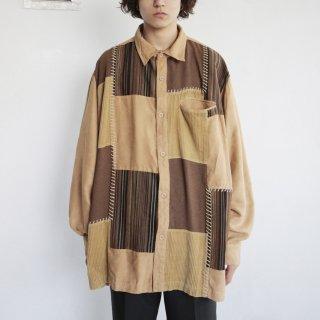 old patchwork loose shirt