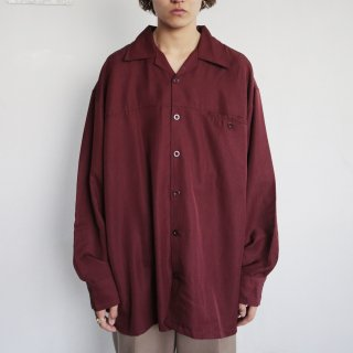 old loose open collar shirt