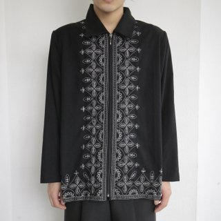 old broderie zipped jacket